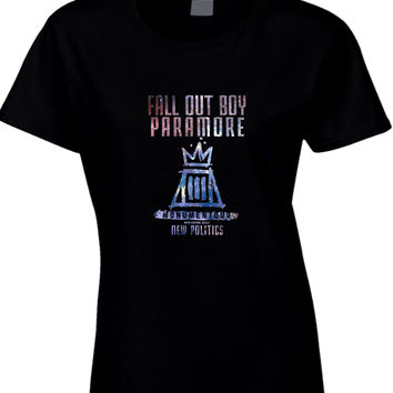 Fall Out Boy Paramore Monumentour Womens T Shirt