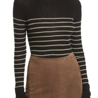Vince Stripe Ribbed Cashmere Sweater | Nordstrom