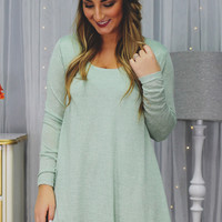Just Act Natural Dress - Mint