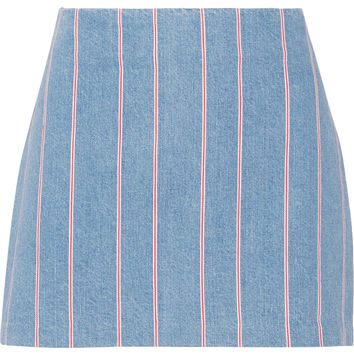 T by Alexander Wang - Striped denim mini skirt
