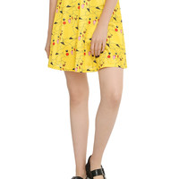 Pokemon Pikachu Print Circle Skirt