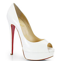 Christian Louboutin - Lady Peep Leather Pumps - Saks Fifth Avenue Mobile