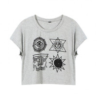 Cropped T-Shirt In Print