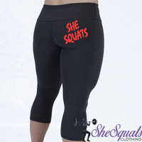 She Squats Performance Workout Capris. Compression Capri. Gym Pants. fitness Capri. Gym Leggings. Yoga Leggings. Compression Pants. Running.