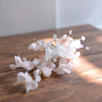 MISS Olivia - golden floral bridal wedding hair comb