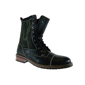 Polar Fox Men's 801025A Calf High Camo Desgin Military Combat Boots