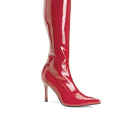 3 3/4 Heel Red Stretch Knee High Boot