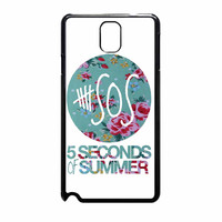 5 Seconds Of Summer Floral Pink Samsung Galaxy Note 3 Case