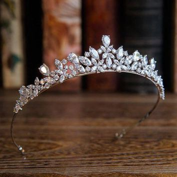 ESBONFI Bavoen New Arrival High quality European Brides Cubic Zirconia Tiara Headpieces Evening Crown Hair Accessories