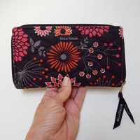 Vintage Bella Taylor Quilted Cotton Wallet/Clutch, Posy Pop Pattern