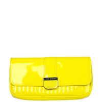 Ted Baker Benet Quilted Enamel Clutch Bag - Bright Yellow