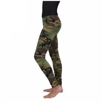 Rothco Womens Woodland Camo Leggings