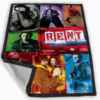 Rent Broadway Musical Blanket for Kids Blanket, Fleece Blanket Cute and Awesome Blanket for your bedding, Blanket fleece *