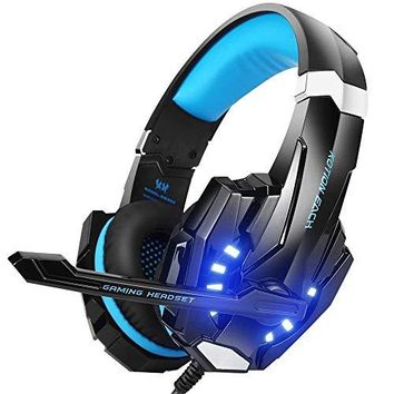 BENGOO G9000 Stereo Gaming Headset for PS4, PC, Xbox One Controller, Noise Cancelling Over Ear Headphones with Mic, LED Light, Bass Surround, Soft Memory Earmuffs for Laptop Mac Nintendo Switch Games: Computers & Accessories
