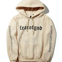 Long-Sleeved Hooded Letters Sweater