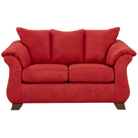 Exceptional Designs Sensations Red Brick Microfiber Loveseat