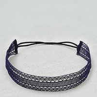 AEO Lace Headband , Navy