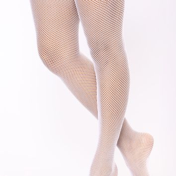 Love Lace Thigh Highs - White