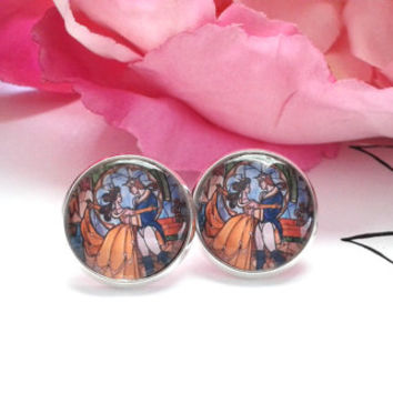 Princess & Prince Stud Earrings - Studs - Earrings - Fake Plugs - Stud Earrings - Recycled Book - Book Earrings - Book Jewelry - Book