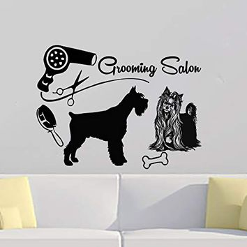 Dog Wall Decals - Dog Wall Stickers - Grooming Salon Decals - Made in the USA MN933