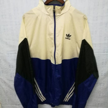 SALE!! Vintage Adidas Windbreaker Jacket Colorblock Tricolor Size L  Made in Thailand l Three stripes l Nike l Kappa pant l Champion l Fila
