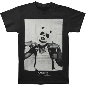 Desiigner Men's  Panda Masked Photo T-shirt Black