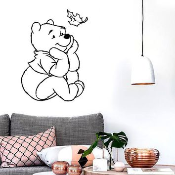 Wall Stickers Vinyl Decal Winnie The Pooh Cartoon Positive Baby Room (ig1041)