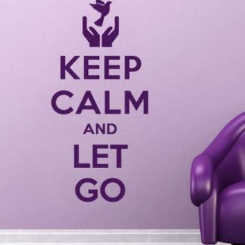 Quote wall decal - Keep Calm and Let Go - Wall Decals , Home WallArt Decals