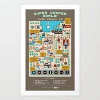 Super Cooper World: Twin Peaks 25 Art Print by beutlerink