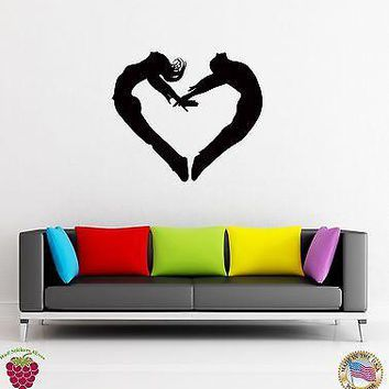 Wall Sticker Love Heart Romantic Modern Decor for Living Room  Unique Gift z1312