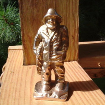 Old Fisherman, Heavy Brass Figure, Old Man of the Sea