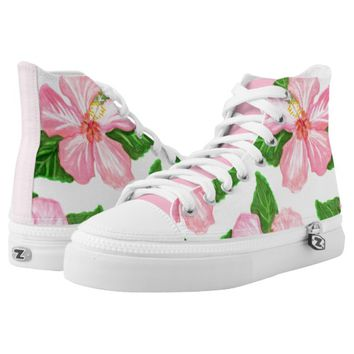 Hibiscus Shoes Printed Shoes