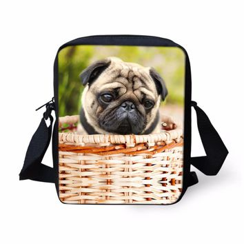 3D Kawaii Puppy Messenger Bag Cute Pet Dog children Crossbody Bag Boys School Bags Kids Book Bags Pug Schoolbags Best Gift