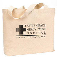 "Seattle Grace Mercy West Hospital Canvas Jumbo Tote Bag 18""w x 11""h"