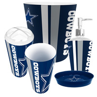 Dallas Cowboys NFL Complete Bathroom Accessories 5pc Set