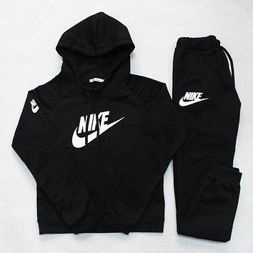 Nike:Sleeve Shirt Sweater Pants Sweatpants Set Two-Piece Sportswear-7