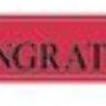 graduation foil banner - red Case of 12