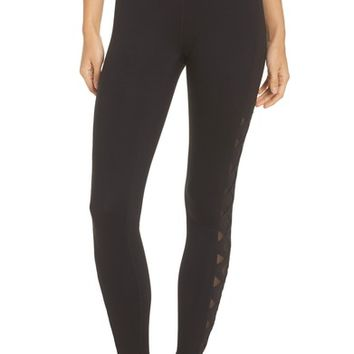 Zella Laser Cut High Waist Leggings | Nordstrom