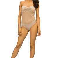 Nude Strapless Body Suit