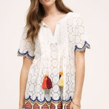 Hemant & Nandita Sea Island Tunic in White Size: