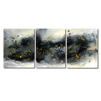 """'Gray area'  - 48"""" X 20"""" Original Abstract  Art. Free-shipping within USA & 30 day return Policy."""