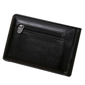 Wallets Men 2016 Fashion Mens Wallet Money Pockets Purse Mini Zipper Leather Credit Card ID Coin Holder Wallet carteras mujer