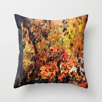 Fall Tree Colors Throw Pillow by MyLove4Art