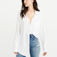Womens Boyfriend Shirt | Womens Tops | Abercrombie.com