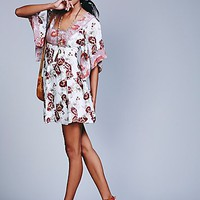 Free People Womens Madam Printed Mini Dress