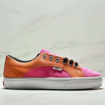 VANS & Off White Fashion New Leather Women Men Contrast Color Leisure Sports Shoes