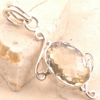 Fantastic Citrine Pendent in 925 Sterling Silver
