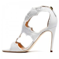 Rupert Sanderson | Estelle in White Calf | High Heel Sandals