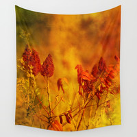 Autumn Gems Wall Tapestry by Theresa Campbell D'August Art