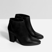 LEATHER HIGH HEEL ANKLE BOOTS - View all-SHOES-WOMAN | ZARA United Kingdom